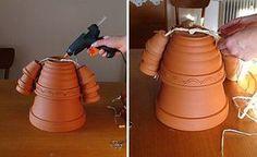 DIY garden decorations dolls teracotta flower pots