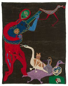 violeta parra dibujos - Búsqueda de Google Cute Pupies, Bird People, Tarot, Stitch Pictures, Contemporary Embroidery, Group Art, Fabric Rug, Naive Art, Outsider Art