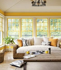 yellow sunroom