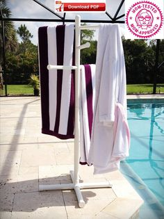 Pvc Pool Towel Holder Things I Want To Make Or Have Made