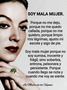 Feliz día mujeres ... - valeria hiraldo sanchez - Google+ Spanish Quotes Love, Spanish Inspirational Quotes, Frida Quotes, True Quotes, Funny Quotes, Qoutes, Favorite Quotes, Best Quotes, Latinas Quotes