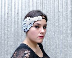 1920s Headbands Great Gatsby Flapper Headpiece by FlowerCouture, $32.00