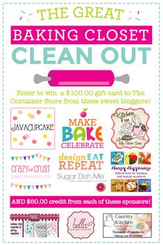 The Great Baking Closet Clean-Out Giveaway - Sugar Dish Me