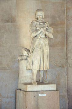 Statue of St. Joan of Arc in the Palace of Versailles - Jeanne d'Arc, marbre de la princesse Marie d'Orléans & Auguste Trouchaud (exécution), XIXe siècle, Versailles