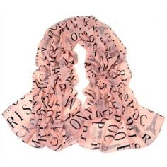 $4.02 Fashion Letters and Euramerican Architectural Print Chiffon Scarf