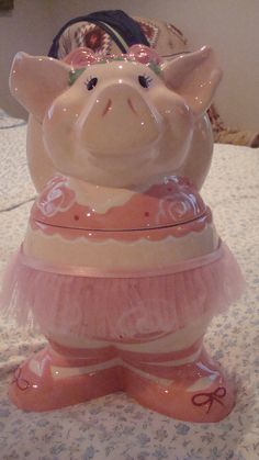 Ballerina pig Cookie jar❤❤❤