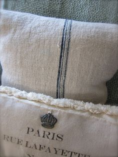 More French pillows, I can't get enough of French pillows! :)