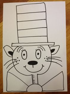 Crayons and Crafting: How to draw Dr Seuss' The Cat in the Hat. Step by step