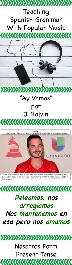 Spanish nosotros form - teaching grammar through music lesson #magnificent Hashtags: #MaVi #Grammar