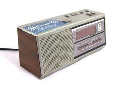 Vtg GE Am FM Digital Alarm Transistor Radio Two Alarms 7 4637A General Electric   eBay