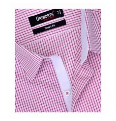 Pink With White Check Shirt