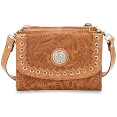 American West Texas Two Step Small Crossbody Bag/Wallet Harvest Moon