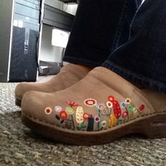 ba2f736d4af Showing my boho roots with these sweet embroidered clogs by Dansko. If you ve  never worn Dansko