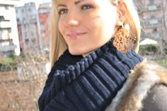 Stroili Silver Lace Earrings in Fely's March outfit