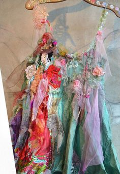 Beautiful+Art+to+wear+Dress+GEISHA+BLOOMING+CHERRY+by+Paulina722,+$378.00