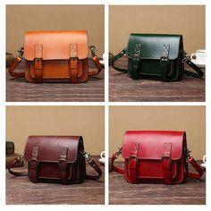 Ekphero Women Genuine Leather Cowhide Retro Messenger Bag Shoulder Bag Crossbod - US$85.50