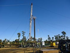 Image: 'CSG drill rig, Pilliga Forest, July 2011', found on flickrcc.net