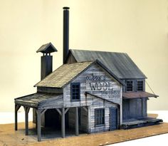 Railroad Line Forums - Coast Line R. Scratch build ( as they all are in this layout ) nice architecture forms to break up dull patterns Forte Apache, Fantasy House, Model Train Layouts, Le Far West, Miniature Houses, Model Building, Small World, Model Homes, Model Trains