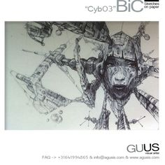 """BiC sketch """"Cyb03"""" via Guus Timmerman. Click on the image to see more!"""