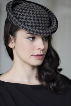 Perch Hat - Houndstooth BY MAGGIE MOWBRAY
