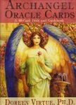 ARCHANGEL ORACLE CARDS (Doreen Virtue)    Archangels are very powerful, wise, and loving guides who can motivate and heal you in miraculous ways. This deck of 45 oracle cards will familiarise you with the 15 Archangels, give you messages from them, help you invoke them, and answer some of your important questions. You'll learn how to give an accurate archangel reading for yourself and others with the help of the instruction booklet. £10.99 Shop at: www.AngelicCreationsShop.net
