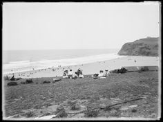 Stanwell Park beach, south of Sydney at Holiday time in December v From Photo shared from the State Records of NSW. v time beach Holiday Time, Timeline Photos, Old Photos, Sydney, December, Australia, Park, History, Beach