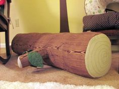 I would love to make something similar to this log pillow for my classroom.
