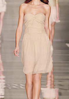 clothing lanvin deconstructed cotton silk strapless wedding gown nude