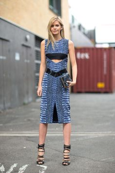 Jessica Stein works a Dion Lee dress in Sydney