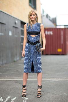 Jessica Stein works a Dion Lee dress in Sydney
