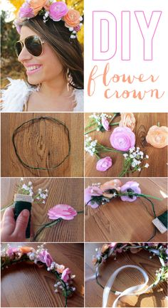 La Petite Fashionista: DIY Flower Crown Tutorial