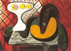 Pablo Picasso. Compotier et mandoline [guitare]. 1932 year