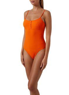 Melissa Odabash, Sporty Look, Beach Club, Swimsuits, Swimwear, Scoop Neck, One Piece, Shopping