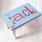 Make a decoupage step stool for baby This personalized stool will make a fine addition to any child's decor.