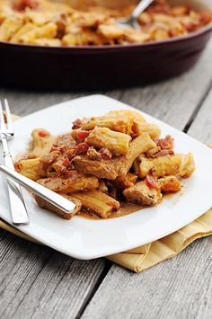 Rustic Baked Rigatoni from Dine & Dish