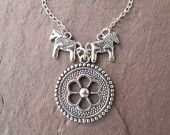 viking shield necklace