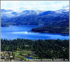 I love Hayden Lake, Idaho, just 1 mile from our door. Great lake to put the boat i. Also best beach for kids . .