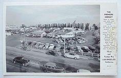 Farmers Market Los Angeles CA 1940s  Postcard