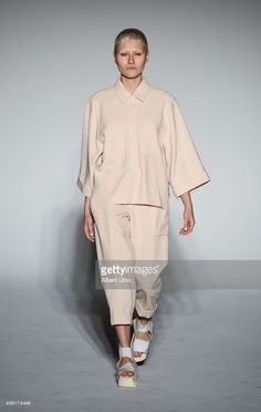 A model walks the runway at the Berenik show during Spring 2016 New York Fashion Week: The Shows at Pier 59 on September 13, 2015 in New York City.