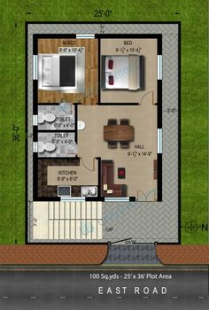 Fancy 3 900 Sq Ft House Plans East Facing North Arts 2 Bhk Indian Styl Planskill On Home 2bhk House Plan, 3d House Plans, Indian House Plans, Small House Floor Plans, Model House Plan, House Layout Plans, Duplex House Plans, Simple Floor Plans, Simple House Plans