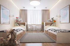 Quarto simples com 2 camas