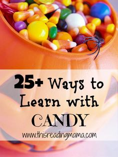 Don't just eat all the Halloween candy- use it for learning too! :)