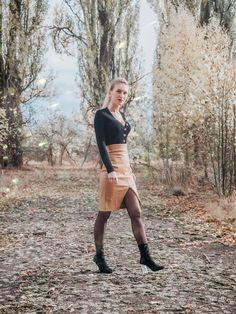 Leather Skirt, Feminine, Sexy, Skirts, Outfits, Fashion, Women's, Moda, Skirt