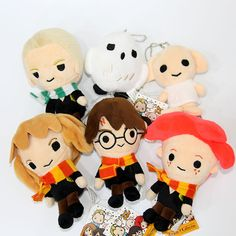6pcs Harry Potter Hermione Ron Dobby Soft Plush Toy Doll Gift Decor Collect 14cm