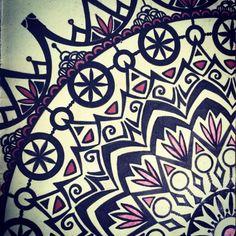 """MANDALA PIECE by celiline Draw something French artwork - Handmade zentangles, doodles, drawings, illustrations in my Moleskine."""