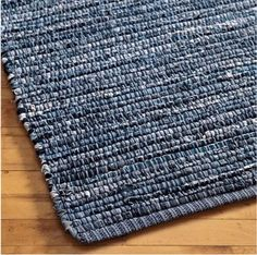 Kids Rugs: Kids Woven Cotton Denim Rag Rug - 3 x 5 Denim Rug by The Land of Nod Artisanats Denim, Denim Rug, Jean Crafts, Denim Crafts, Homemade Rugs, Denim Ideas, Braided Rugs, Old Clothes, Weaving Projects