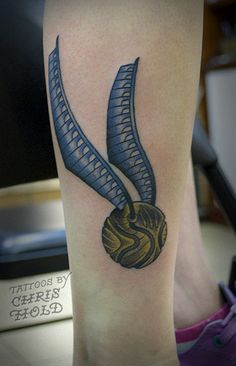 I open at the close. #snitch #harrypotter #tattoo