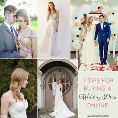 7 Tips for Buying a Wedding Dress Online | via http://emmalinebride.com/bride/buying-wedding-dress-online/
