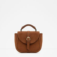 ZARA - NEW IN - LEATHER MESSENGER BAG WITH BUCKLE