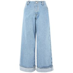 Super Wide Leg Frayed Jeans by Boutique (725 MAD) ❤ liked on Polyvore featuring jeans